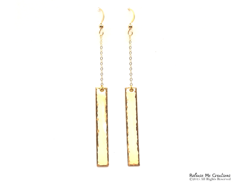 Vertical Dangle Earrings 14k Gold Filled - product image