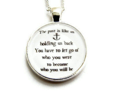 Nautical,Anchor,Carrie,Bradshaw,Quote,Necklace,quote, black, white, anchor, nautical, carriebradshaw, sexandthecity, sarahjessicaparker, theartisangroup, gift, for her, empowering, woman