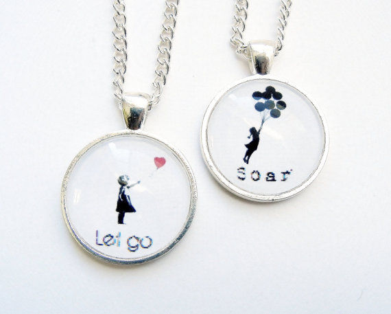 Banksy Balloon Girl Soar Necklace - product image