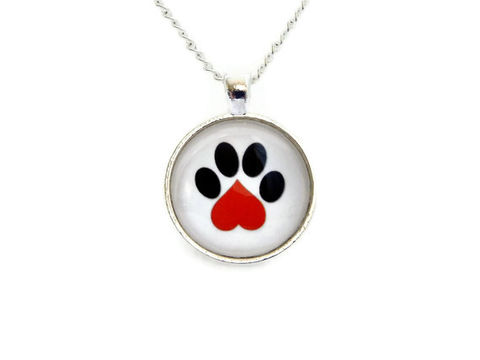 Pet,Paw,Heart,Necklace,Lovers,Paws,in,the,City,Rescue,Jewelry,pet, dog, rescue jewelry, cat, animal, pawsinthecity, cute, heart, black, red, white, gift, for her, for him, unisex, necklace, theartisangroup