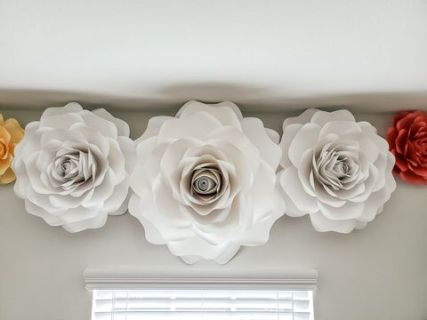 Large,Paper,Flower,Single,Rose,Bridal,Backdrop,Baby,Nursery,Shower,Birthday,Home,Decor,bridal, backdrop, baby, nursery, home decor, shower, birthday, wall hanging, paper flower, paper roses, giant paper flower, large paper flower, step and repeat, wedding, interior design