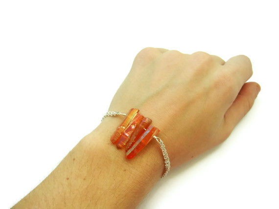 Tangerine Aura Quartz Dream Bracelet - product image