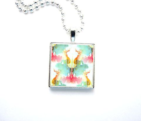 RESERVED,LISTING:,Rorschach,Inkblot,Necklaces, Inkblot, Psychology, Jewelry, Release Me Creations