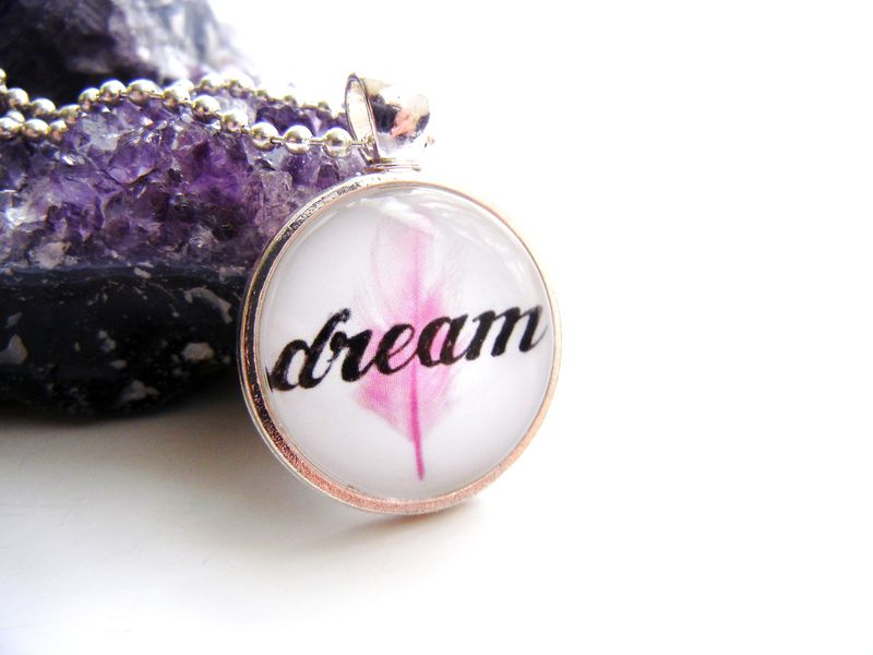 Dream Pink Feather Necklace - product image