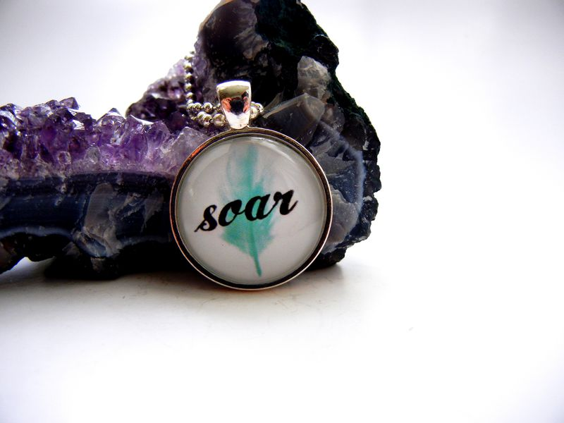 Soar Blue Feather Necklace - product image