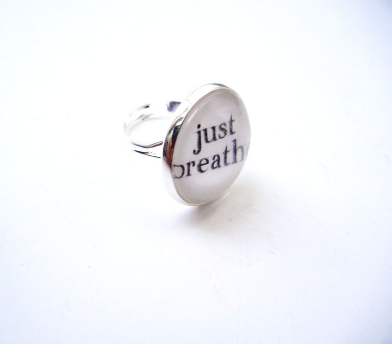 Just Breathe Sterling Silver Ring - product image
