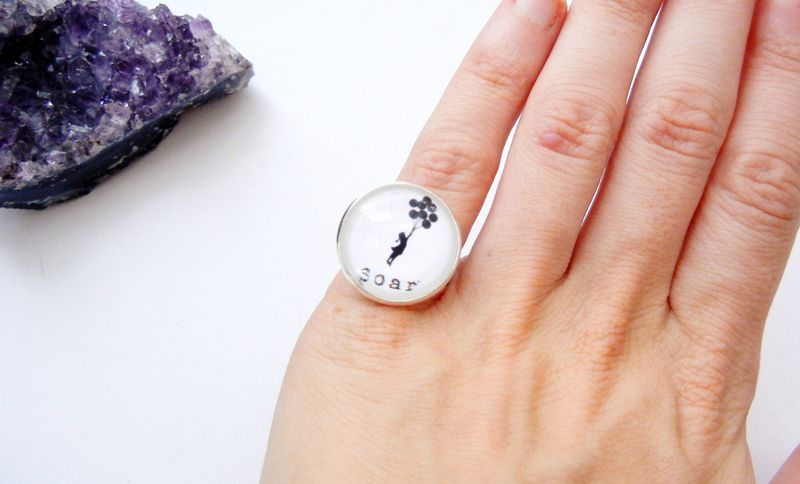 Soar Banksy Balloon Girl Ring - product image