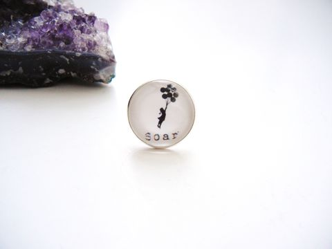 Soar,Banksy,Balloon,Girl,Ring,sterling silver ring, soar, banksy balloon girl, for her, jewelry, release me creations