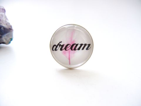 Dream,Pink,Sterling,Silver,Ring,inspirational, dream, pink, pastel, sterling silver ring, release me creations