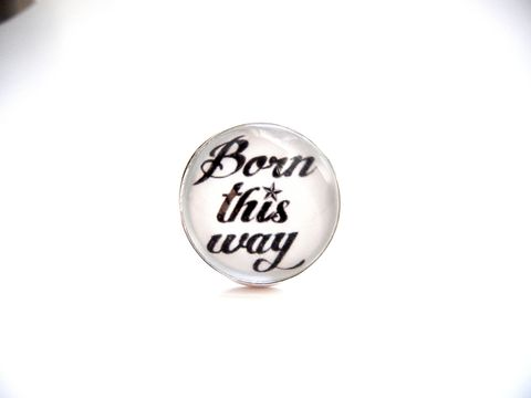 Born,This,Way,Sterling,Silver,Ring,ring, sterling silver, born this way, lady gaga, inspirational, self love, release me creations, for her, jewelry