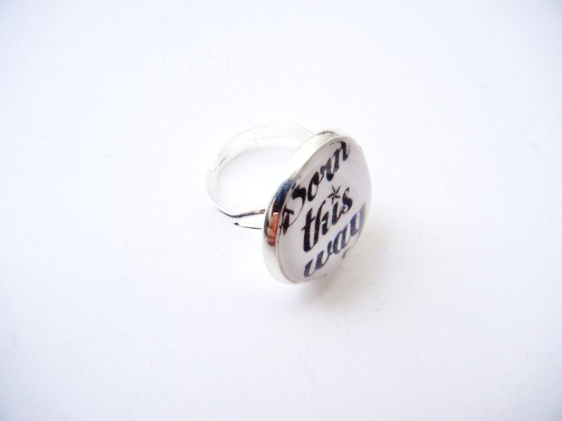 Born This Way Sterling Silver Ring - product image