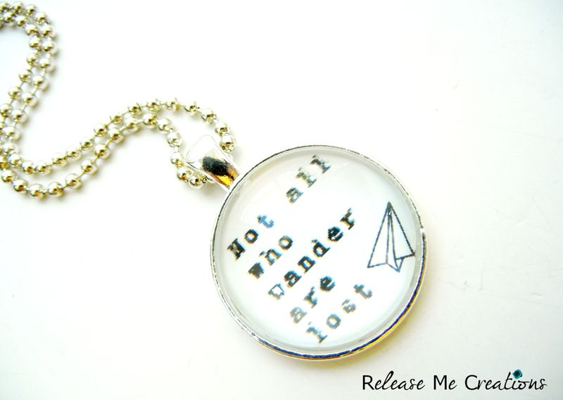 Custom Personalized Typography and Whimsy Necklace - product image