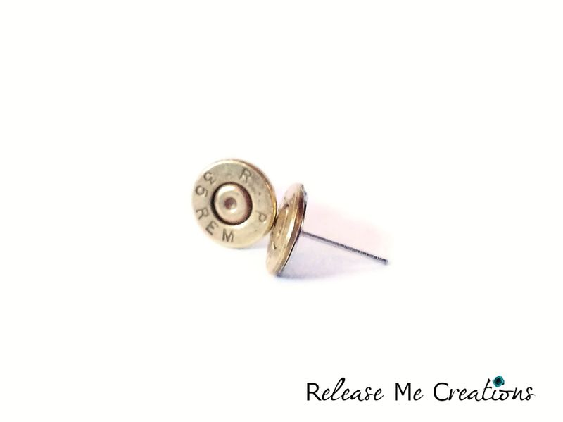 Remington Rifle Bullet Post Earrings - product image