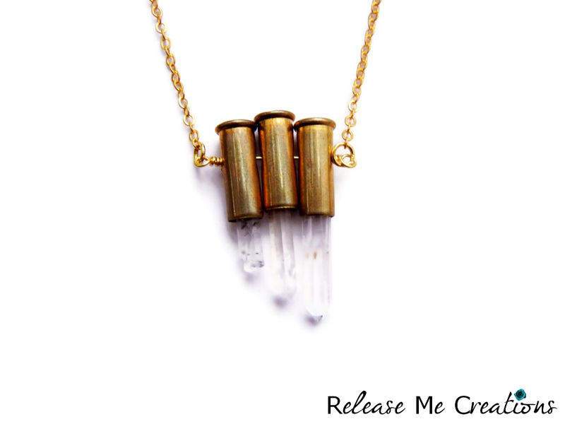 Triple Petite 9mm Quartz Crystal Necklace - product image