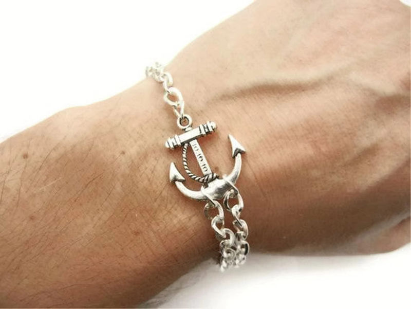 Single Personalized Anchor Bracelet - product image