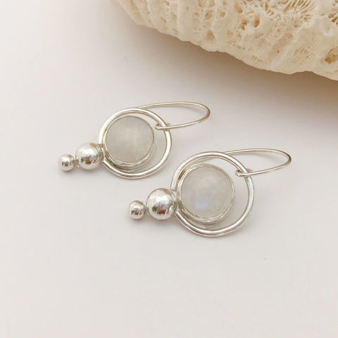 Rainbow,Moonstone,Earrings,Sterling,Silver,Blue,Flash,rainbow moonstone earrings, Sterling silver moonstone jewelry, hand fabricated jewelry