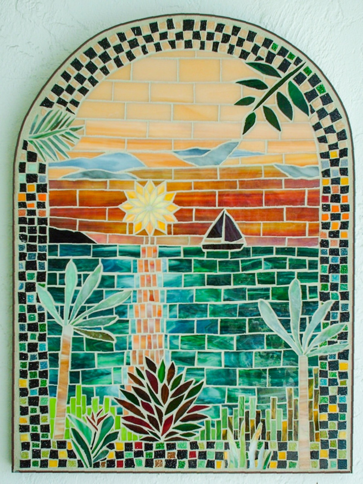 First mosaic art piece on Linda Pieroth Smith's journey