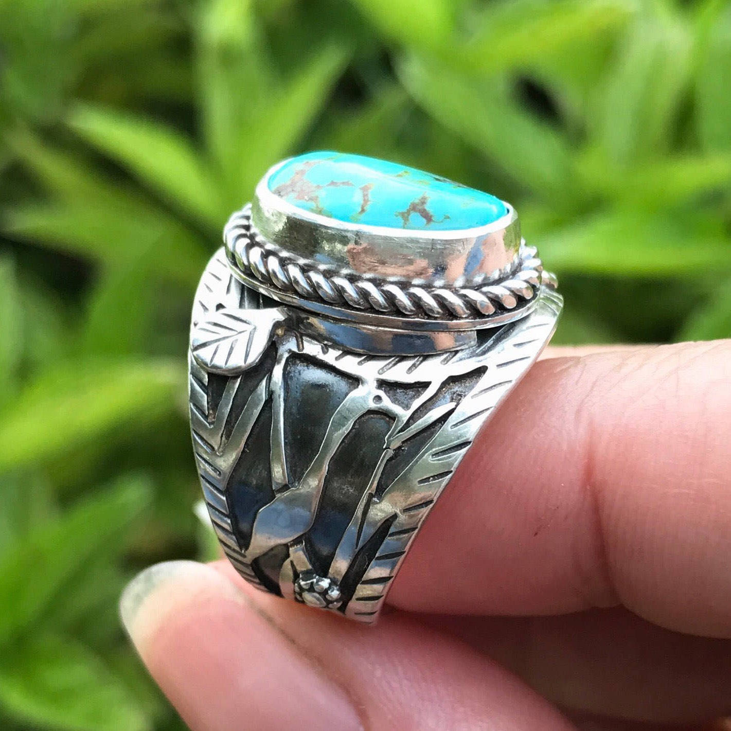 A bird theme ring by MosaicSmith