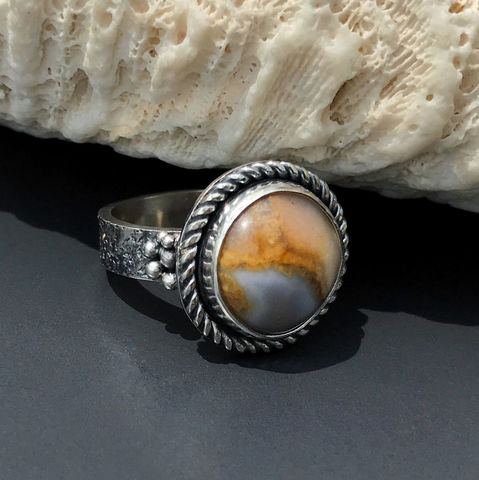 Lake,Superior,Agate,Ring,,Artisan,Handmade,Sterling,Silver,Size,7,sterling silver lake superior agate ring, artisan handmade sterling jewelry, sterling silver hand fabricated agate ring,