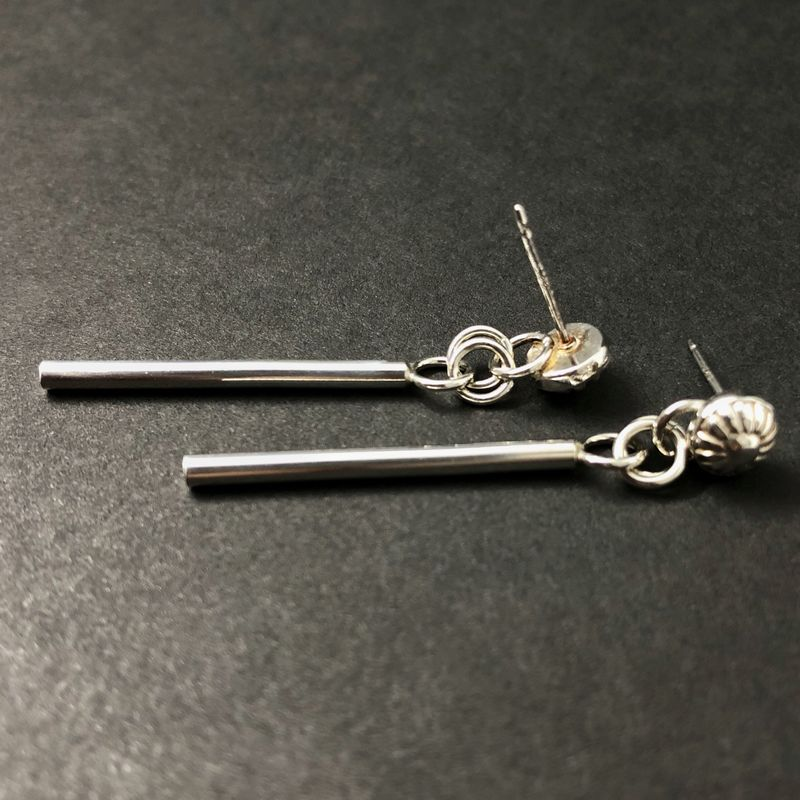 Floral Stick Earring Dangles, Sterling Silver - product images  of