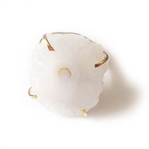 White,natural,'evil,eye,solar,quartz,ring'.,Jewellery, Crystal, 24kt Gold, White, Evil eye,  Solar Quartz, Healing Crystal.