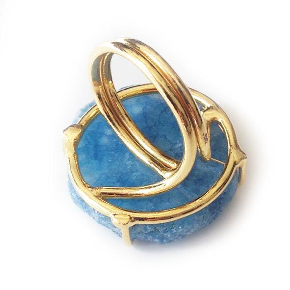 White Cyan 'evil eye solar quartz ring'. - product images  of