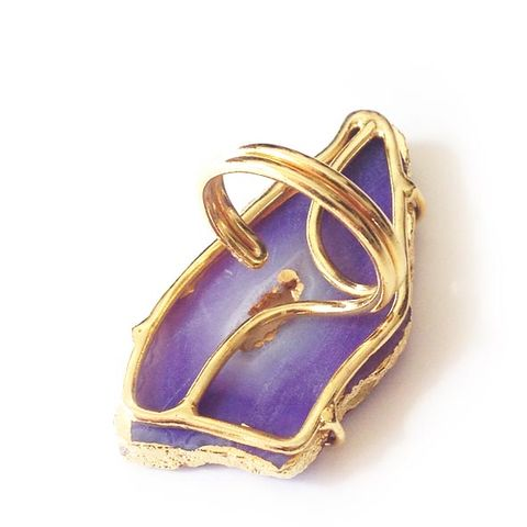 Purple Agate Geode Ring. - product images  of