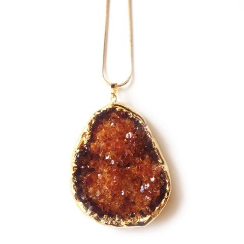 Raw Citrine Slice pendant  - product images  of