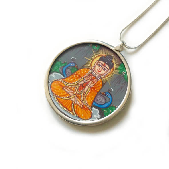 Beautiful hand painted Budha pendant necklace. - product images  of