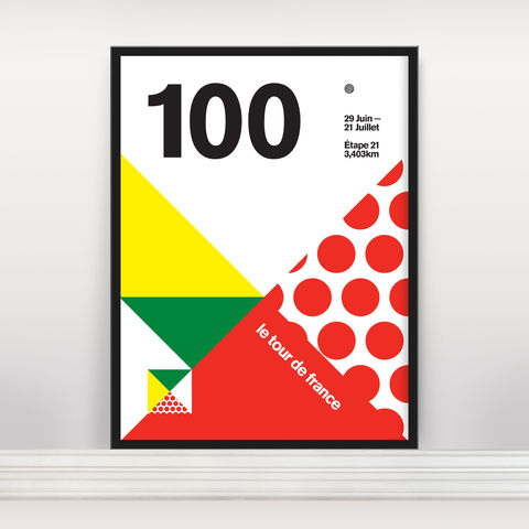 Le,Tour,100,Neue,-,Ltd,Edition,Screen Print, Typographic Poster, Tour de France
