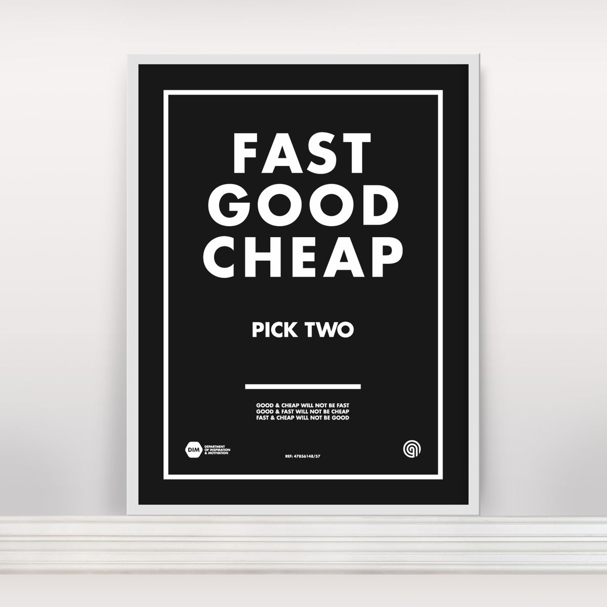 Fast Good Cheap: Pick Two - Screen Print Edition 3 - product image