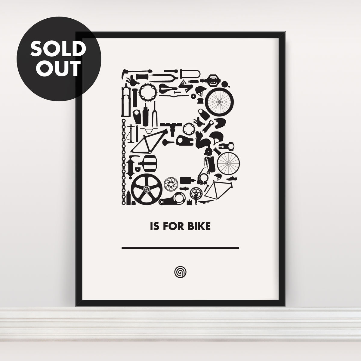 B is for Bike - Screen Print Edition 4 - product image