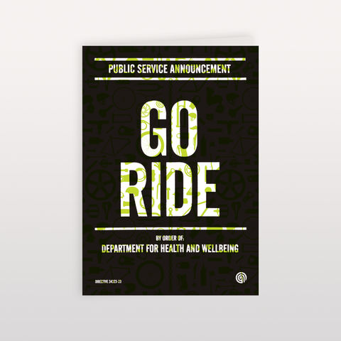 Go,Ride,-,120x170mm,Greeting,Card,Go Ride, Greeting Card, Anthony Oram