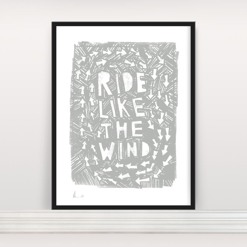 Ride Like The Wind - Limited Edition Screen Print - product images  of