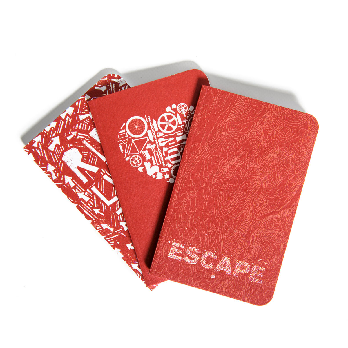 notō pocket journal - red - product images  of