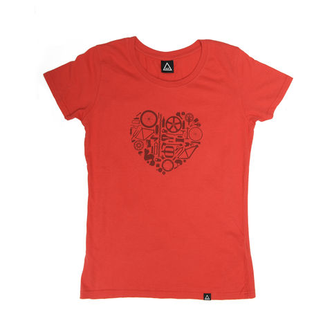 AOP,Bike,Love,Women's,it,100%,Organic,T-shirt,MTB, Anthony Oram, AOP, Bike Love