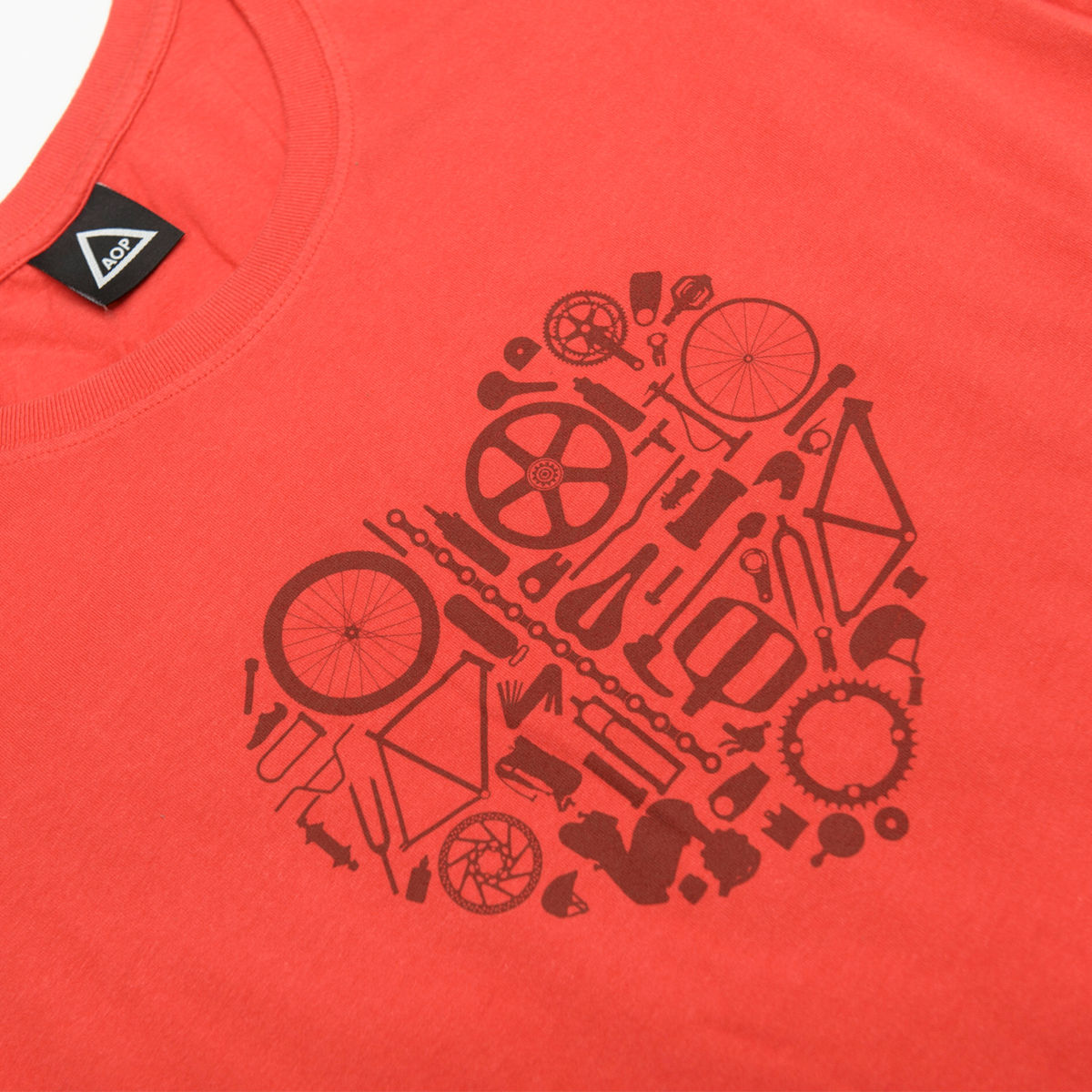 AOP Bike Love Women's it 100% Organic T-shirt - product images  of
