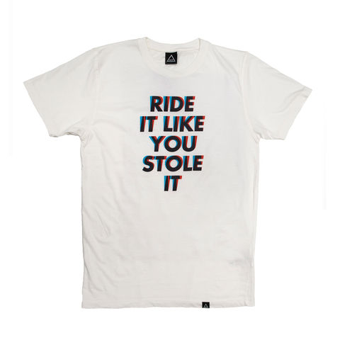 AOP,Ride,It,Like,You,Stole,it,100%,Organic,T-shirt,MTB, Anthony Oram, AOP, Anatomy of a Bicycle t-shirt