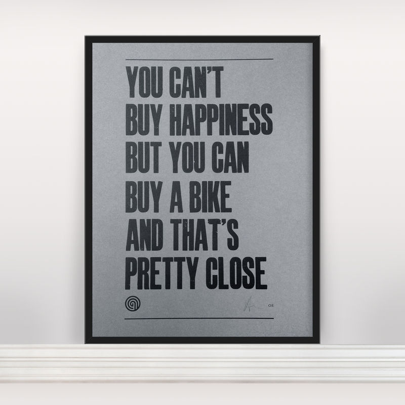 You Can't Buy Happiness - Letterpress Open Edition - product images  of