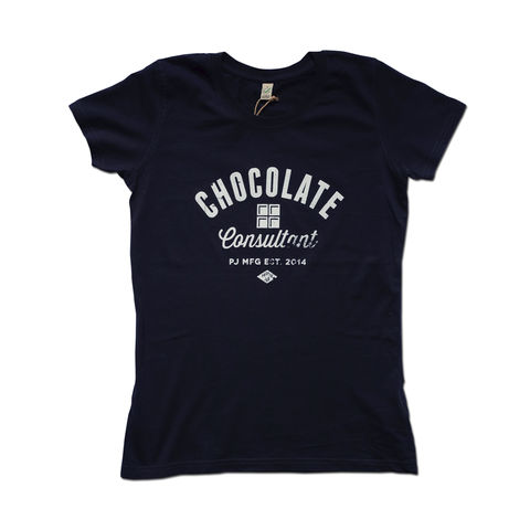 Proper,Job,-,Chocolate,Womens,100%,Organic,T-shirt,Anthony Oram, Proper Job, Chocolate