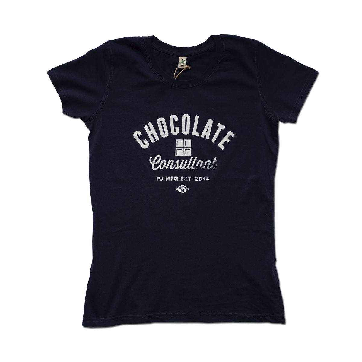 Proper Job - Chocolate Womens 100% Organic T-shirt - product image