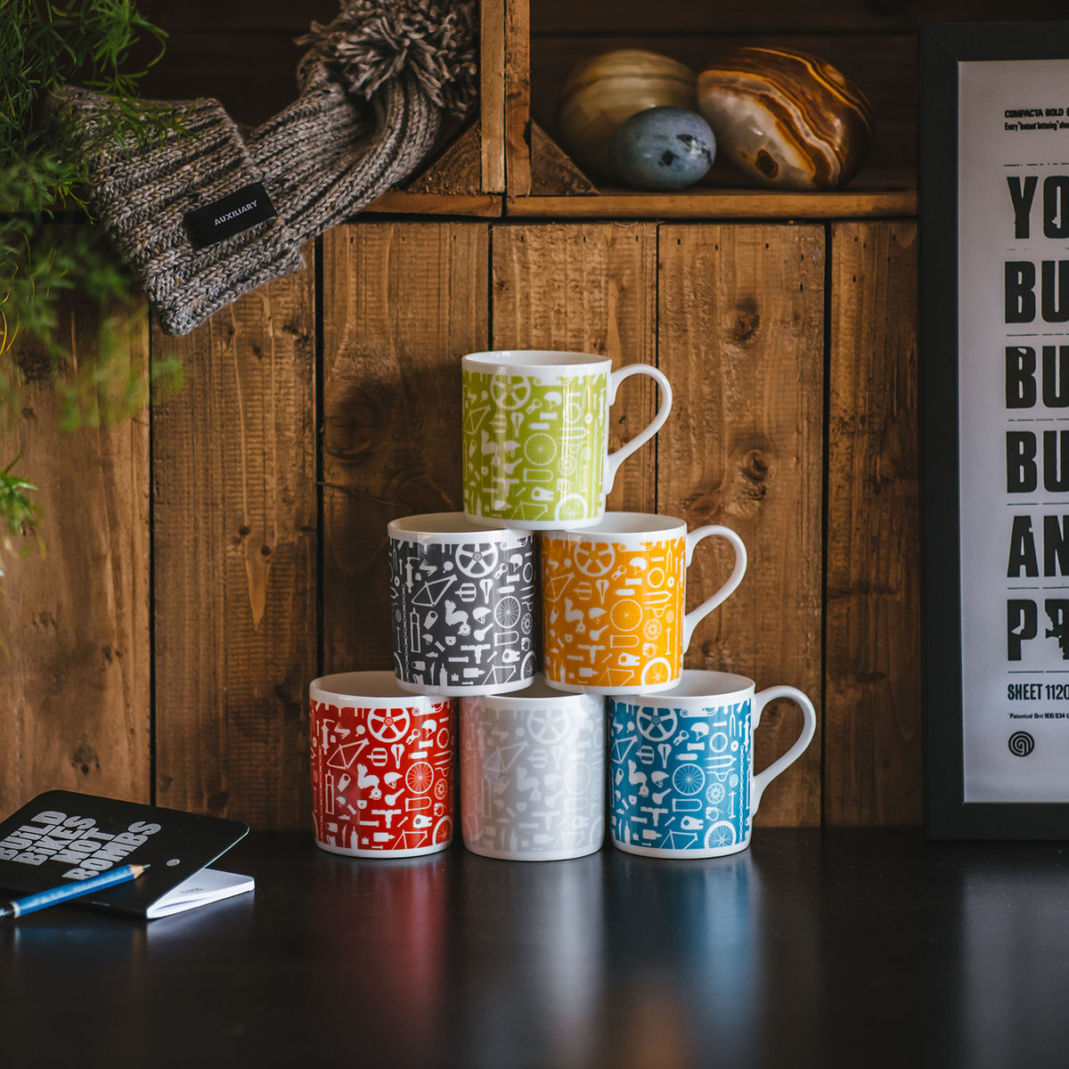 Bike Repeat print mug - product image