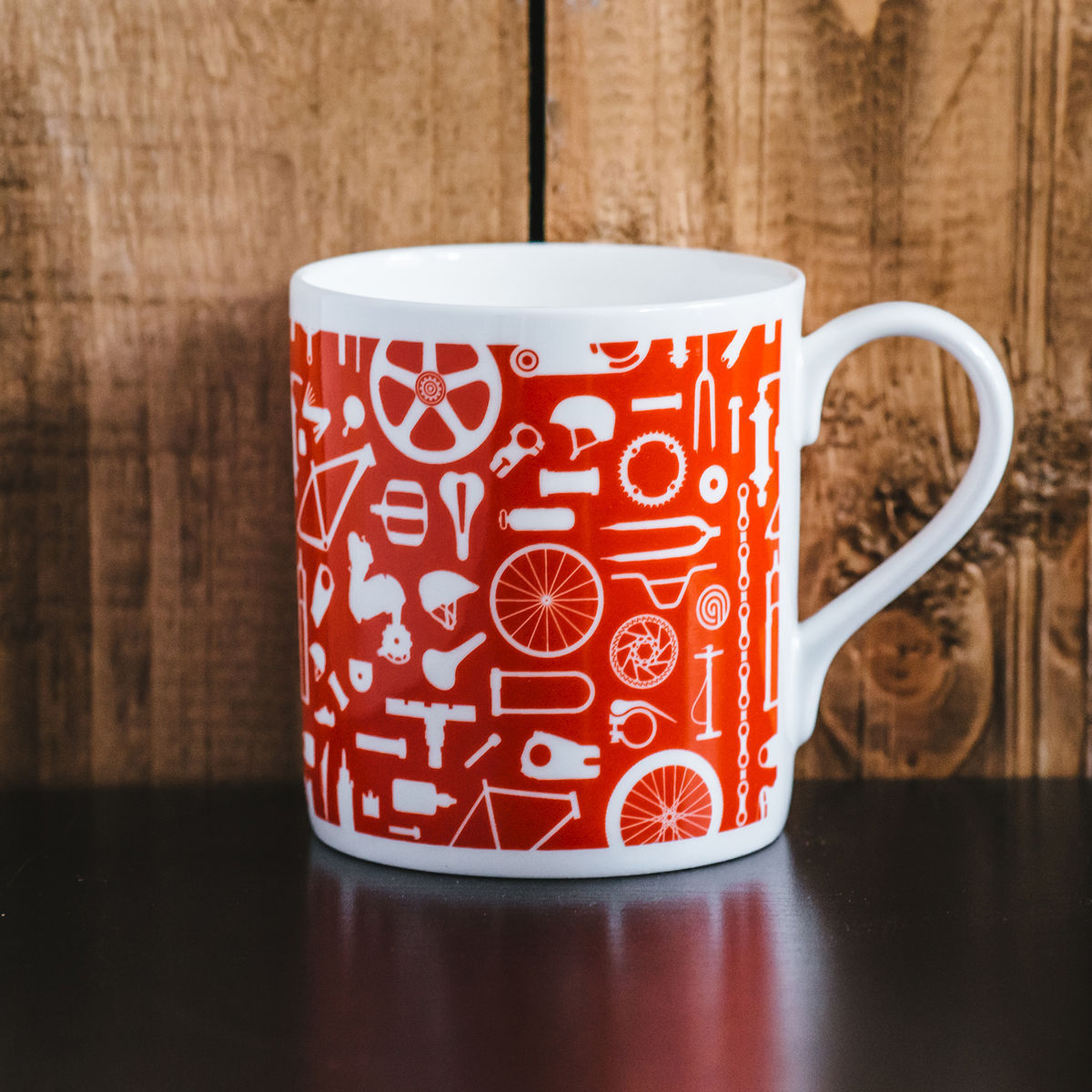 Bike Repeat print mug - product images  of