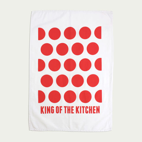King,of,the,Kitchen,-,Tea,Towel,Tea Towel