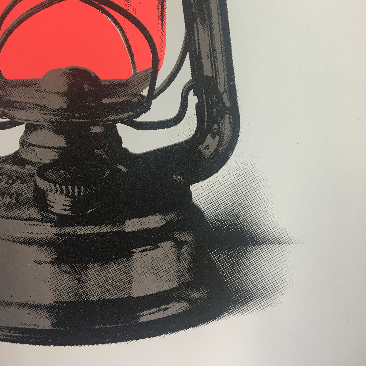 Hurricane Lamp - Screen Print - product images  of