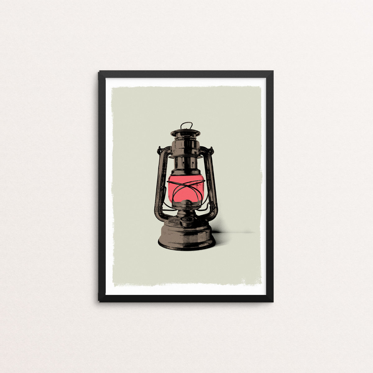 Hurricane Lamp - Screen Print - product image