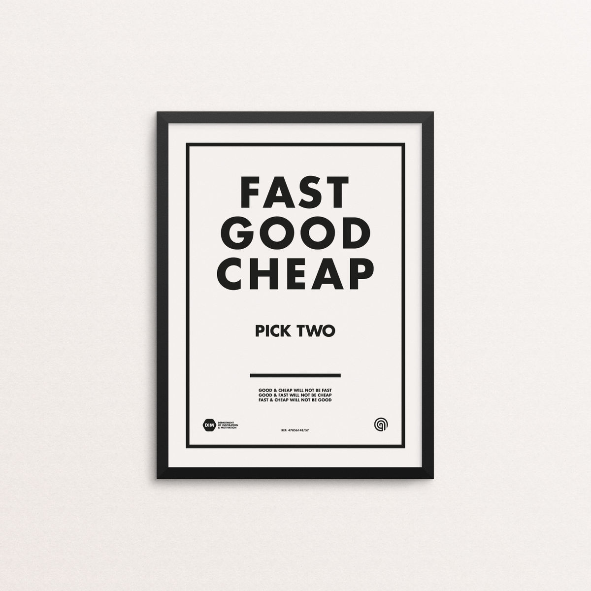 Fast Good Cheap: Pick Two - Screen Print Edition 4 - product image