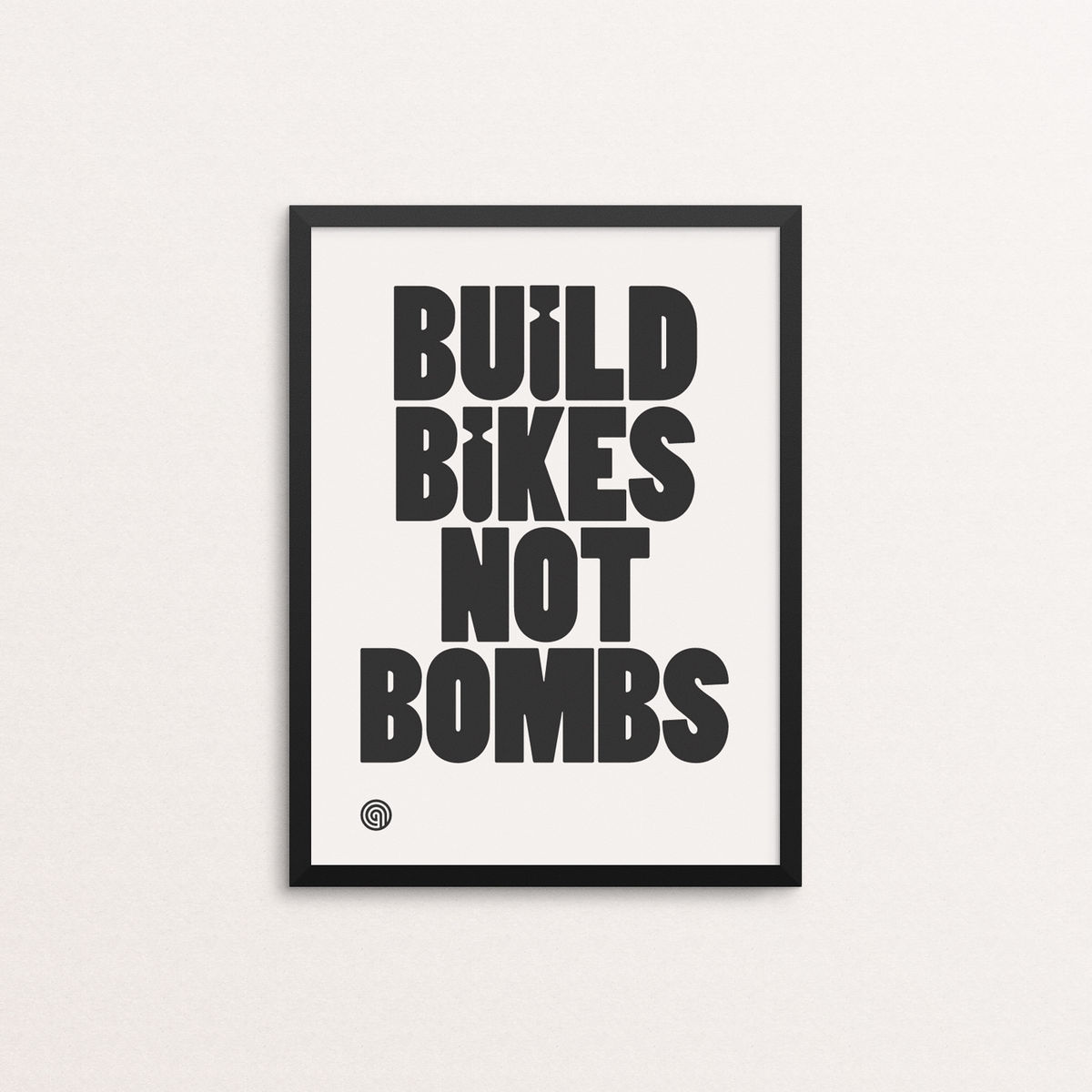 Build Bikes Not Bombs - Open Edition Screen Print - product image