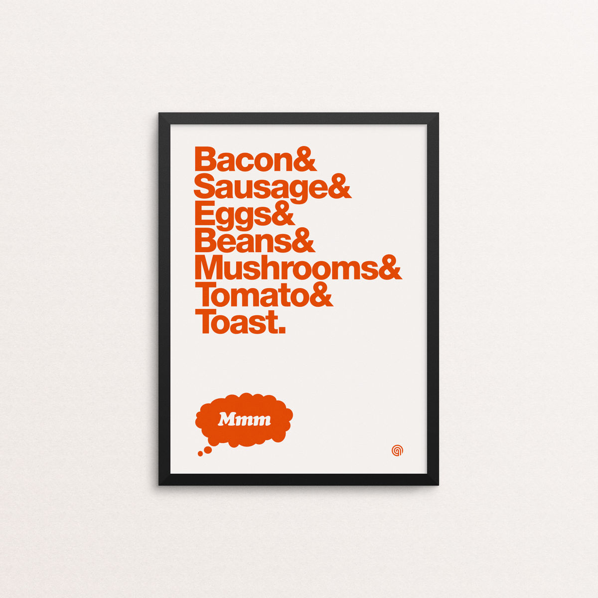 Bacon & Eggs: Open Edition - Screen Print - product image