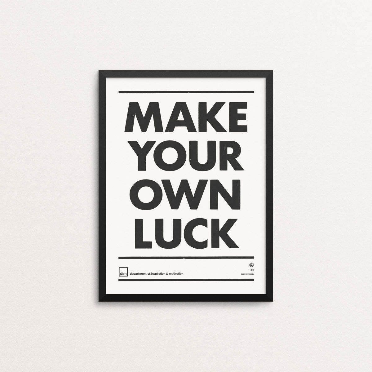 Make Your Own Luck - Ltd Edition White - product image